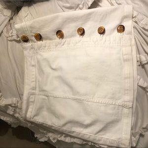 Free people white button skirt